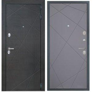 Стальная дверь ИНТЕКРОН СЕНАТОР Лучи графит