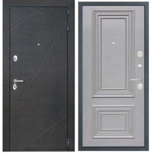 Стальная дверь ИНТЕКРОН СЕНАТОР Сан Ремо 2 RAL 7037