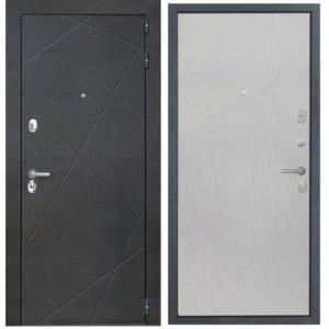Стальная дверь ИНТЕКРОН СЕНАТОР Скол дуба белый (гладкая)