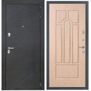 Стальная дверь ИНТЕКРОН СЕНАТОР ФЛ-58 Беленый дуб