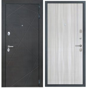 Стальная дверь ИНТЕКРОН СЕНАТОР L-5 Сандал белый