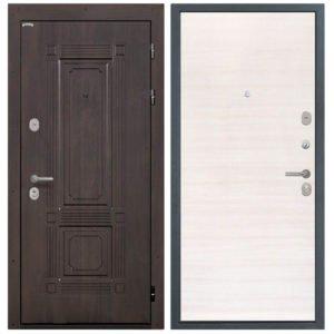 Стальная дверь Интекрон Италия Дуб сильвер поперечный