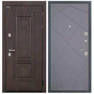 Стальная дверь Интекрон Италия Лучи графит