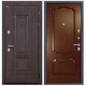 Стальная дверь Интекрон Италия Позитано - Дуб бургундский