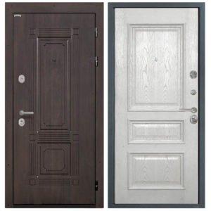 Стальная дверь Интекрон Италия Валентия 2 - Ясень жемчуг