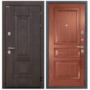 Стальная дверь Интекрон Италия Валентия 2 - Красное дерево