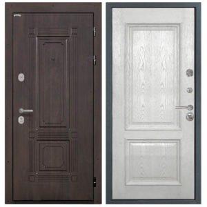 Стальная дверь Интекрон Италия Валентия 4 - Ясень жемчуг