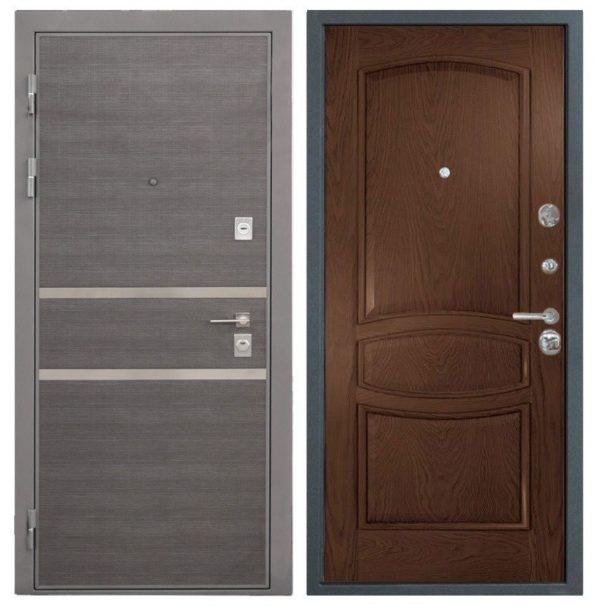 Стальная дверь Интекрон НЕАПОЛЬ Палермо - Дуб бургундский