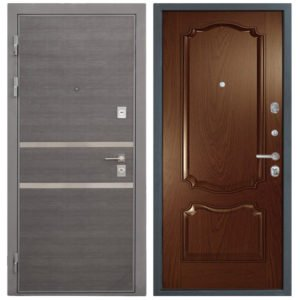 Стальная дверь Интекрон НЕАПОЛЬ Позитано - Дуб бургундский