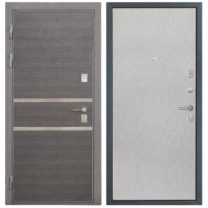 Стальная дверь Интекрон НЕАПОЛЬ Скол дуба белый (гладкая)
