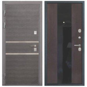 Стальная дверь Интекрон НЕАПОЛЬ Спациа 3 Венге Черный глянец