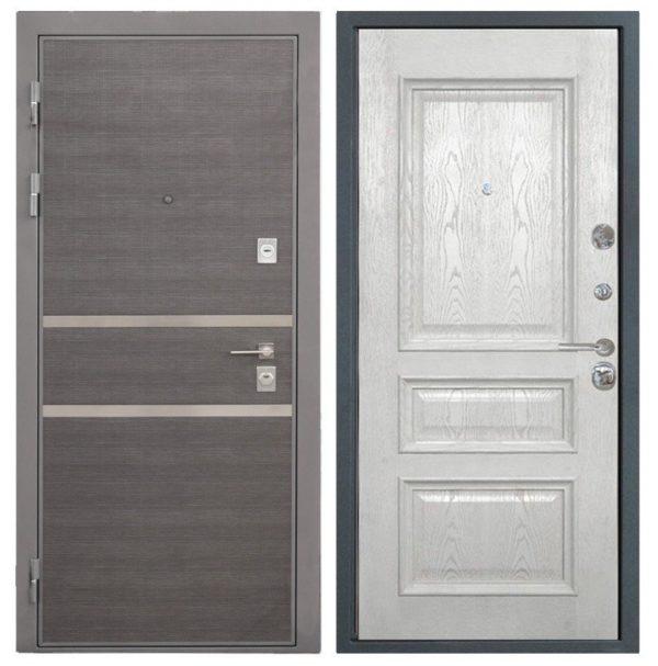 Стальная дверь Интекрон НЕАПОЛЬ Валентия 2 - Ясень жемчуг