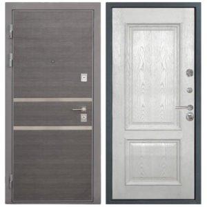 Стальная дверь Интекрон НЕАПОЛЬ Валентия 4 - Ясень жемчуг