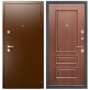 Стальная дверь ИНТЕКРОН СИРИУС 3D-1 Итальянский орех
