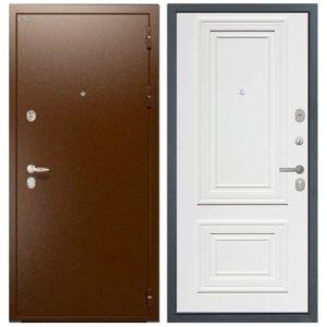 Стальная дверь ИНТЕКРОН СИРИУС Сан Ремо 1 RAL 9003