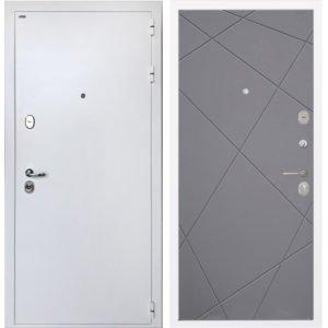 Стальная дверь ИНТЕКРОН КОЛИЗЕЙ White Лучи графит