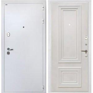 Стальная дверь ИНТЕКРОН КОЛИЗЕЙ White Сан Ремо 1 RAL 9010