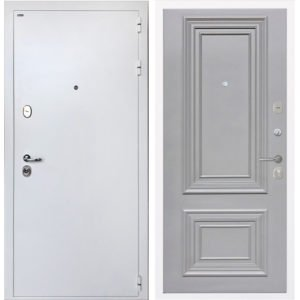 Стальная дверь ИНТЕКРОН КОЛИЗЕЙ White Сан Ремо 2 RAL 7037