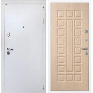 Стальная дверь ИНТЕКРОН КОЛИЗЕЙ White ФЛ-183 Беленый дуб