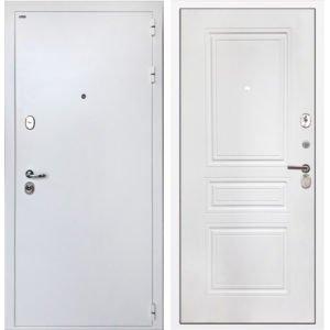 Стальная дверь ИНТЕКРОН КОЛИЗЕЙ White ФЛ-243-м белая матовая