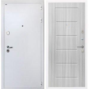 Стальная дверь ИНТЕКРОН КОЛИЗЕЙ White ФЛ-39 Сандал белый