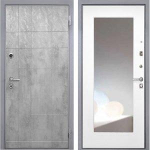 Стальная дверь Интекрон Спарта Грей Белая с зеркалом