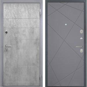 Стальная дверь Интекрон Спарта Грей Лучи графит