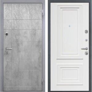 Стальная дверь Интекрон Спарта Грей Сан Ремо-1 RAL 9003