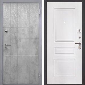Стальная дверь Интекрон Спарта Грей ФЛ-243-м белая матовая