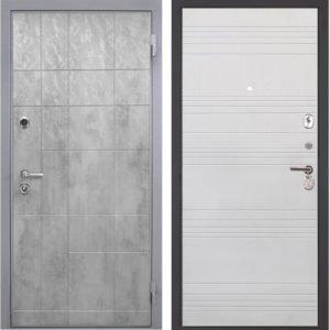 Стальная дверь Интекрон Спарта Грей ФЛ-316 белый ясень