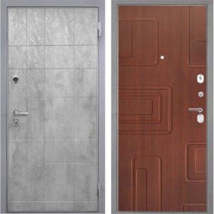 Стальная дверь Интекрон Спарта Грей Элит лиственница кофе