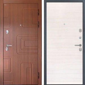 Стальная дверь Интекрон Элит Дуб Сильвер поперечный