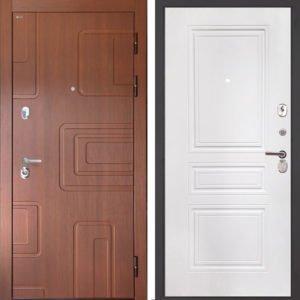 Стальная дверь Интекрон Элит ФЛ-243-м белая матовая