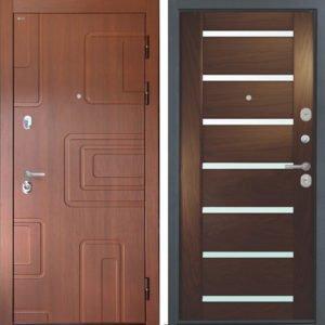 Стальная дверь Интекрон Элит Фоджа 7 Дуб бургундский ШПОН