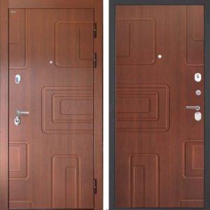 Стальная дверь Интекрон Элит Лиственница Кофе