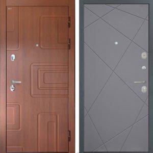 Стальная дверь Интекрон Элит Лучи графит