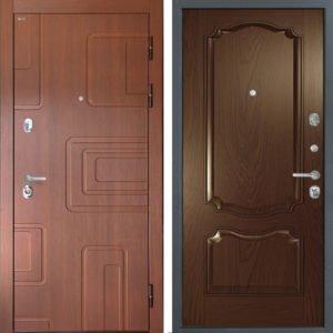 Стальная дверь Интекрон Элит Позитано Дуб бургундский ШПОН