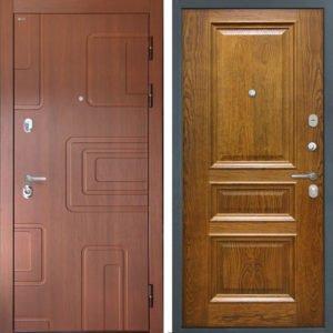 Стальная дверь Интекрон Элит Валентия 2 Дуб Бренди ШПОН