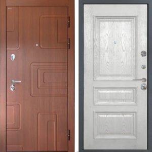 Стальная дверь Интекрон Элит Валентия 2 Ясень жемчуг ШПОН