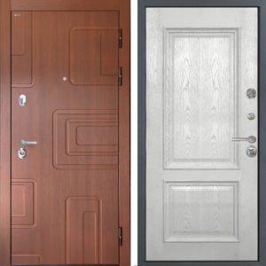 Стальная дверь Интекрон Элит Валентия 4 Ясень жемчуг ШПОН